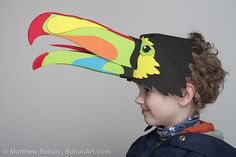 2010 Keel-Billed Toucan Hat  Learn more about the artist at https://www.etsy.com/shop/BohanArt/about