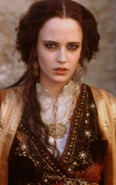 Eva Green on the set of 'Kingdom of Heaven'
