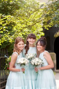 Aqua turquoise bridesmaids dresses : Mirror Imaging Photography: Amanda & Mike's Wedding in Granby Nottinghamshire