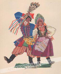 polish dance by Zofia Stryjeńska #Stryjenska #warsztatykrakowskie