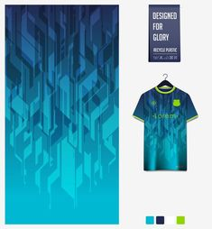 New T Shirt Design, Shirt Designs, Jersey Designs, Sports Jersey Design, Cool Gadgets To Buy, Shirt Mockup, Blue Backgrounds, Abstract Pattern, Fabric Patterns