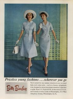 Betty Barclay Ad Campaign Spring/Summer 1959 Shot #1