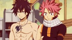 Gray Fullbuster and Natsu's Epic BroFist  the most epic of all anime