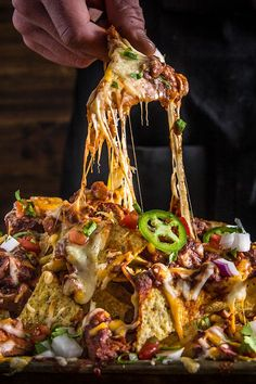 We took two of the best things in the world and combined them to make the ultimate dish of smoky, cheesy goodness with Traeger's Smoked Chili Brisket Nachos. Traeger Recipes, Grilling Recipes, Smoked Brisket, Brisket Chili, Traeger Brisket, Traeger Smoker, Smoked Sausage Recipes, Smoking Recipes, Fast Food