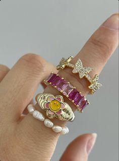 Nail Jewelry, Trendy Jewelry, Cute Jewelry, Jewelry Rings, Jewelry Accessories, Fashion Jewelry, Vintage Accessories, Grunge Jewelry, Funky Jewelry
