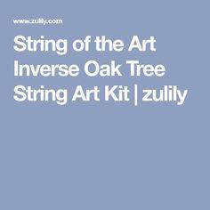 String of the Art Inverse Oak Tree String Art Kit   zulily