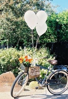 70 Awesome Ways To Incorporate Bikes Into Your Wedding HappyWedd com is part of Bicycle wedding - I love riding a bike! If you too, loves, you can always incorporate it into your big day! Take bikes for your walk with your beloved, put a bike with signs Wedding Themes, Wedding Signs, Our Wedding, Dream Wedding, Wedding Ideas, Wedding Places, Hippie Wedding Decorations, 2017 Wedding, Wedding Dresses