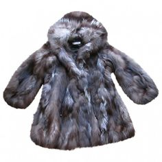 FUR COAT YVES SALOMON ($1,320) ❤ liked on Polyvore featuring outerwear, coats, yves salomon, gray coat, gray fur coat, grey fur coat and grey coat