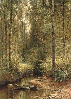 A forest stream , 1882 - Ivan Ivanovich Shishkin