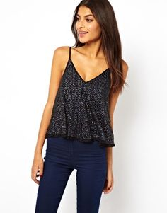 ASOS Cami Top with Embellished Dome