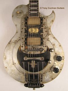 """""""53"""" electric guitar by Tony Cochran Guitars This electric guitar happens to be #53 of only 300 custom one-off functional guitars that will ever be made & sold by Tony. www.facebook.com/tonycochranguitars for detail & complete story link. """"53"""" had a... #electricguitar"""
