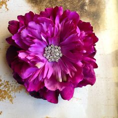 Items similar to Magenta and plum purple flower clip with rhinestone center for Flower Girl. on Etsy Flower Hair Clips, Flowers In Hair, Purple Flowers, Magenta, Plum Purple, Girls Clips, Head Wrap Headband, Barrette Clip, Prune