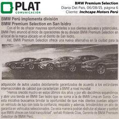 Inchcape Motors: BMW Premium Selection en el diario Del País de Perú (06/08/15)
