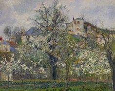 Prunier en fleurs, par Camille Pissarro