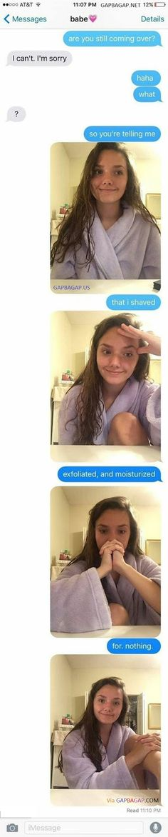 Funny Text Messages About Girl vs. Cancelled Date