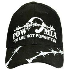 pow mia you are not forgotten hat for men and women military military - Pow Mia Hat