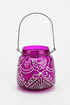 DIY Henna patterns onto candles and lanterns