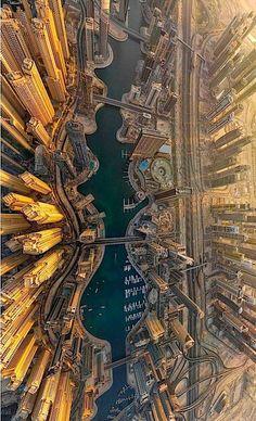 Dubai Marina, Vista de Pájaro