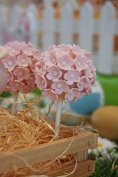 Beautiful flowered cake pops