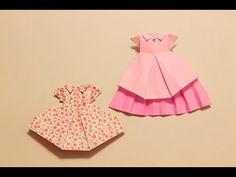 【折紙(origami)】ワンピース Dress - YouTube