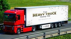 Free Vehicle Branding Heavy Duty Truck Mock-up PSD