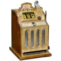 "*OLD SLOT MACHINE ~ ""Mills Cherry Bell"", c. 19**"