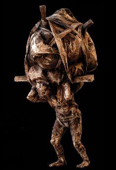 by YOANN PENARD Assemblage Art, Dark Art, Contemporary Artists, Figurative, Lion Sculpture, Statue, Dolls, Darkness, Sculptures
