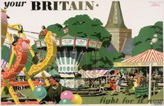 """Abram Games and Frank Newbould's wartime poster for the """"Your Britain, Fight For It Now"""" series Ww2 Posters, Travel Posters, Abram Games, Balloon Stands, Poster Prints, Art Prints, Vintage Advertisements, Vintage Posters, Landscape Paintings"""