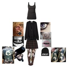 """""""gothic outfit"""" by monsterhex ❤ liked on Polyvore featuring MANGO, Organic by John Patrick, James Perse and Ellie"""
