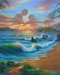 Jim Warren, American Fantasy and Surrealist painter Bastet, Tres Belle Photo, Life Drawing Classes, Fantasy Paintings, Fantastic Art, Surreal Art, Airbrush, Art World, Art Pictures