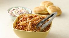 Relax and enjoy tender pulled pork sandwiches for dinner by letting your slow cooker do all the work!