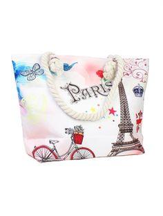 Paris Canvas, Beach Tote Bags, Purses And Bags, Cycling, Closure, Handbags, Zip, Shoulder, Accessories