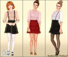Anubis Under The Sun ♪: Dawn Allure ~ Dress with Collar and Suspenders for Teen-to-Adult