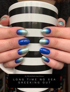 Get Nails, How To Do Nails, Hair And Nails, Nail Color Combos, Nail Colors, Color Streaks, Happy Nails, Nail Time, Fall Nail Art