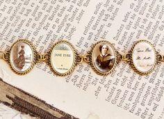 jane eyre - charlotte bronte vintage bracelet