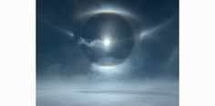 Icesheet #4724, 22˚and 46˚ halo, tangent arc, parry arc, cza and parhelic circle, 120 x 160cm, digital pigment print, edition of 7, 2013