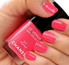 Two coats of Chanel Fracas nail polish (spring 2013)