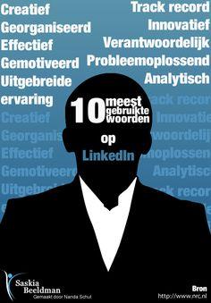 De 10 meest gebruikte #woorden op #LinkedIn!