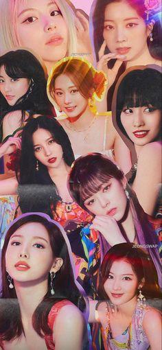 Twice Momo Wallpaper, More Wallpaper, Wallpaper Iphone Cute, Photo Wallpaper, Cute Wallpapers, Wallpaper Lockscreen, Nayeon, Aesthetic Collage, Kpop Aesthetic