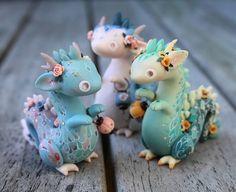 Polymer clay dragons