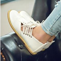 Price: 15.89$ Fall 2014 white shoe leather low help beef tendon bottom flat sneakers shoes Korean tide drive ventilation casual shoes SS57