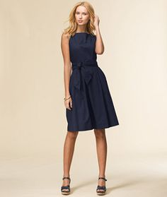 Find the best Signature Poplin Dress at L. Our high quality Women's Dresses and Skirts are thoughtfully designed and built to last season after season. Dress Skirt, Dress Up, Easy Dress, Dress Cake, Poplin Dress, Shirtdress, Dress Silhouette, Navy Blue Dresses, Shoes With Navy Dress