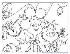 The Grinch Who Stole Christmas Coloring Pages The Grinch\'s Whoville ...
