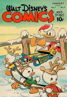 Cover for Walt Disney's Comics and Stories (Dell, 1940 series) #v7#4 (76)