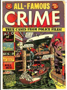 (#3) Pre-Code Crime Stories, 'Ma' Barker Story 11/51 LBCole Cover Police File, Crime Comics, Pre Code, Bronze Age, Golden Age, Horror, Comic Books, Superhero, Stars