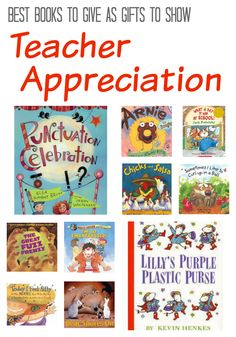 Books are great gifts for Teacher Appreciation Day! Click for suggestions.
