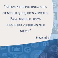 Terminamos la semana con una frase de #SteveJobs.