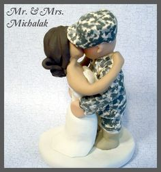 Military Wedding Cake Topper