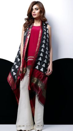 Stylish Pakistani Party Wear Dresses 2018 For Girls In Jacket Style New Party Wear Dress, Pakistani Party Wear Dresses, Pakistani Dress Design, Indian Dresses, Indian Outfits, Pakistani Couture, Pakistani Fashion Casual, Ethnic Fashion, Indian Fashion