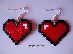 Pendientes colgantes de corazones.  Si te gustan puedes adquirirlos en nuestra tienda on-line: http://www.sugarshop.eu